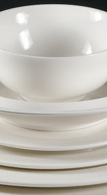 New Bone Plates, Dessert Bowl -22.5cm & Rice Bowl 12