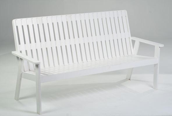 White Patio Bench ...