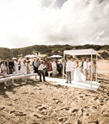 Square Bridal Gazebo with Wooden Platform and Isle.